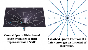 Absorbed Space vs Curved Space